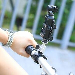 Image 5 - ULANZI OP 7 Vlog Расширенный корпус чехол для DJI Osmo Карманный, клетка w микрофон Холодный башмак 3 GoPro адаптер для мотоциклетного шлема