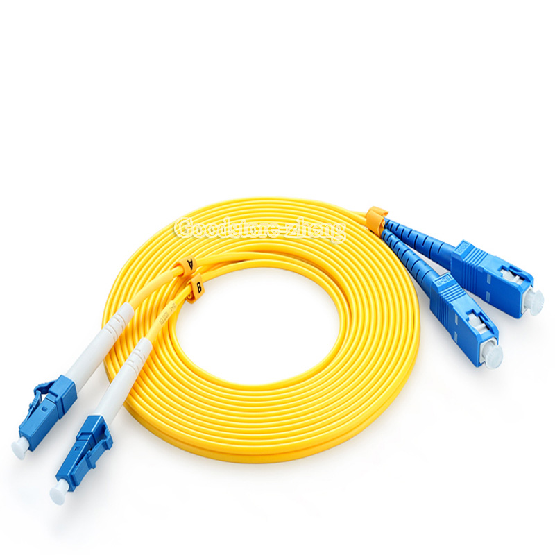 LC to SC fiber optical patch cord jumper cable, SM,Single Mode duplex, 9/125, 3/5/10/15/20/30/50 Meters