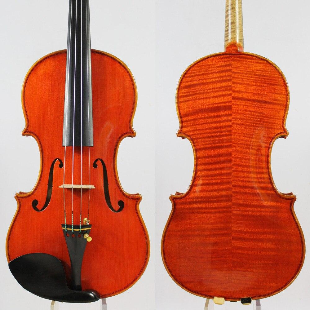 ¡Violín violino maestro! ¡Copia de identidad! Guarneri del Gesu The Cannon 1743! ¡Tono fuerte y profundo! ¡envío gratis! puente Aubert! NO: 3