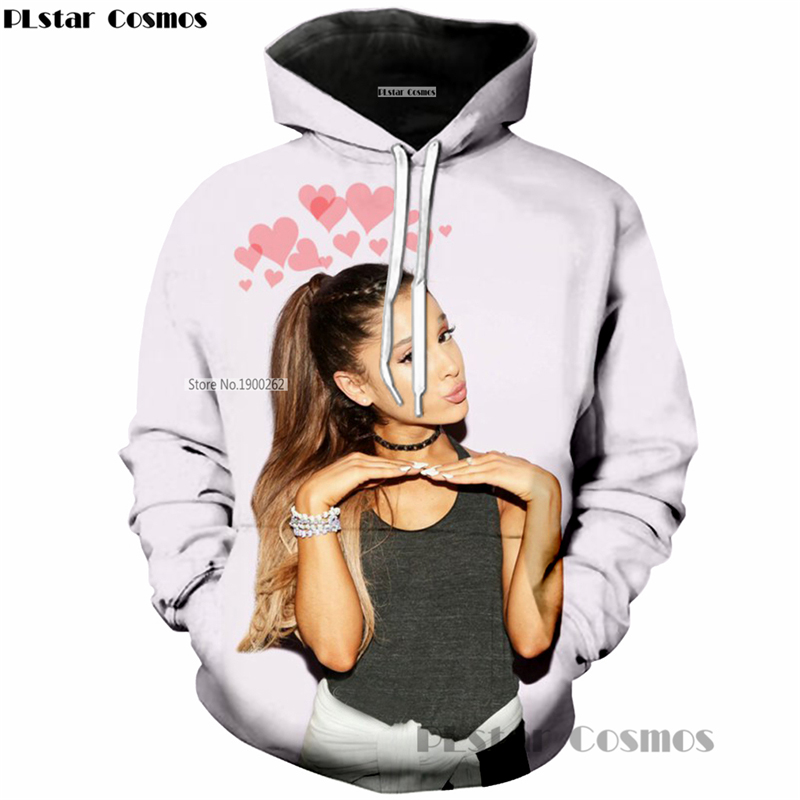 PLstar Cosmos Nuovo arrivo Ariana grande Beatuiful songstress 3d Con Cappuccio Stampa uomini Di Modo/Donne Felpa streetwear casuale