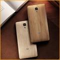 Oficial original de bambú de madera cajas del teléfono de la contraportada de la piel para xiaomi mi4 teléfono móvil con piezas de repuesto de vivienda lechón xy1158