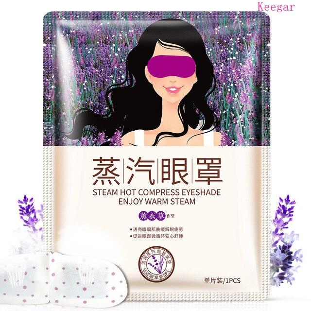 Bioaqua Lavender Oil Steam Eye Mask Eye Care Skin Dark Circle Eye Bags Eliminate Puffy Eyes Fine Line Wrinkles Anti Aging