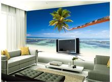 custom photo wallpaper beach TV background wall sofa painting