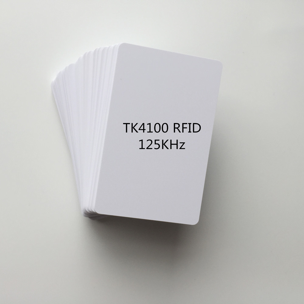 100pcs 13.56Mhz Custom PVC Contactless Smart Chip Blank Card Access Control NFC RFID Card
