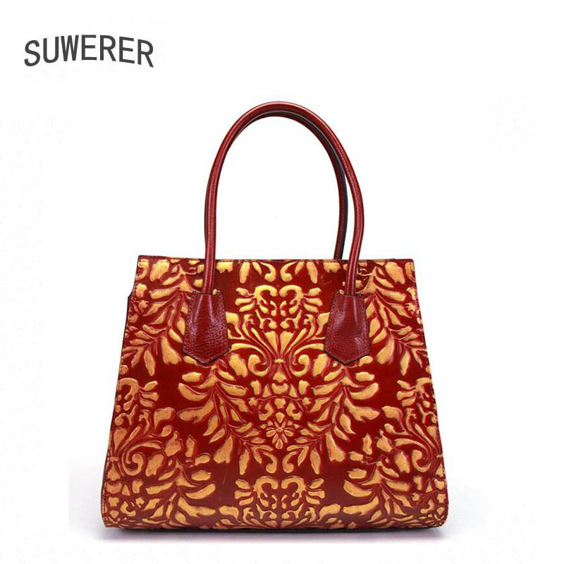 Soft Genuine Leather Women Handbags Retro Cowhide Luxury Designer