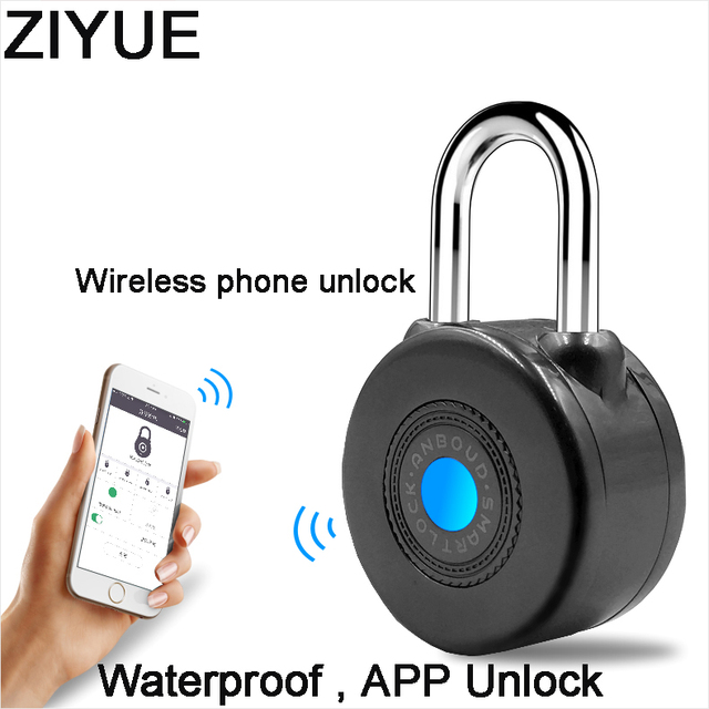 Free Shipping Waterproof Keyless Smart Electronic Wireless Blue tooth Door Lock for Bike Motorycle Door APP Phone Control
