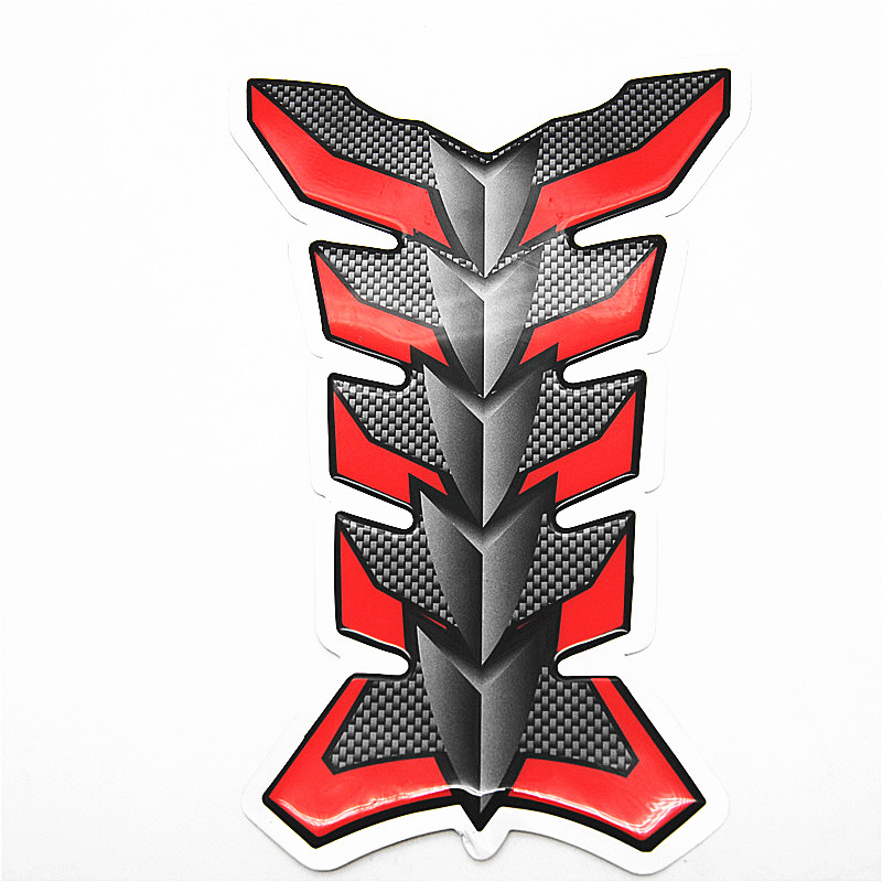 3D Motorcycle Sticker Carbon Fiber Fuel Gas Tank Pad Protector Decal Harley Cool Dragonsouls