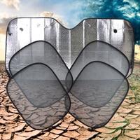 5x beler Nueva Llegada Plegable del papel de Aluminio Ventana Lateral Del Coche Del Parabrisas Delantero Trasero Parasol Cubierta Visor Protección de Pantalla Sombrillas