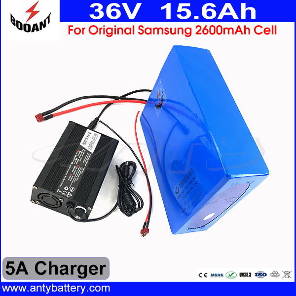 36V Lithium Battery Pack 15AH For Original Samsung 2600mAh 3.7V Cell eBike Battery 36V 800W With 5A Charger Free Shipping free customs taxes super power 1000w 48v li ion battery pack with 30a bms 48v 15ah lithium battery pack for panasonic cell