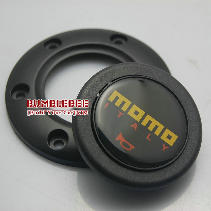 !MOMO Steering Wheel Hubs Car horn button black (B:horn * 1, screw ,Speaker wire, cover) ,CC128 - power Online Store 722192 store
