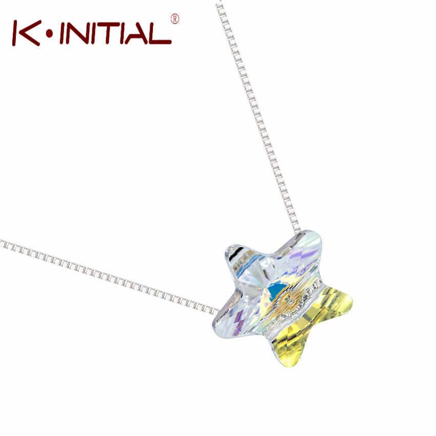 Kinitial элегантный пятиконечная звезда кулон Цепочки и ожерелья 3D Геометрия Звезда