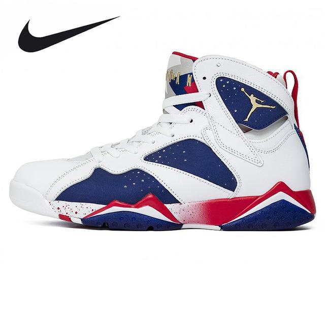 sale retailer 73b0e 354b2 Nike Air Jordan 7 Olympic Alternate AJ7 Joe 7 Olympic Men's Basketball  Shoes Sneakers,Original Outdoor Sports Shoes 304775 123-in Basketball Shoes  ...