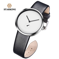 STARKING Men Watches Black Minimalist Small Dial Polygonal Unique Quartz Wristwatch Male Hour Minute Hands Men's Clock 2018