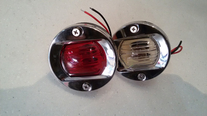 Image 2 - 12V 24V Marine Boat Navigation Stern Light Round Stainless Steel 8W Tungsten Bulb Tail Lamp Red/White