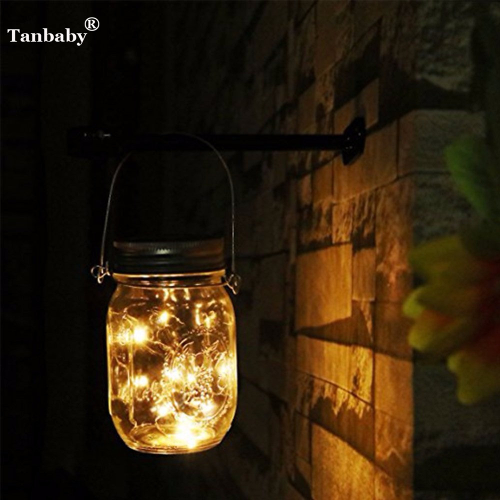 Tanbaby Solar Light Mason Jar Lids Insert Color Changing