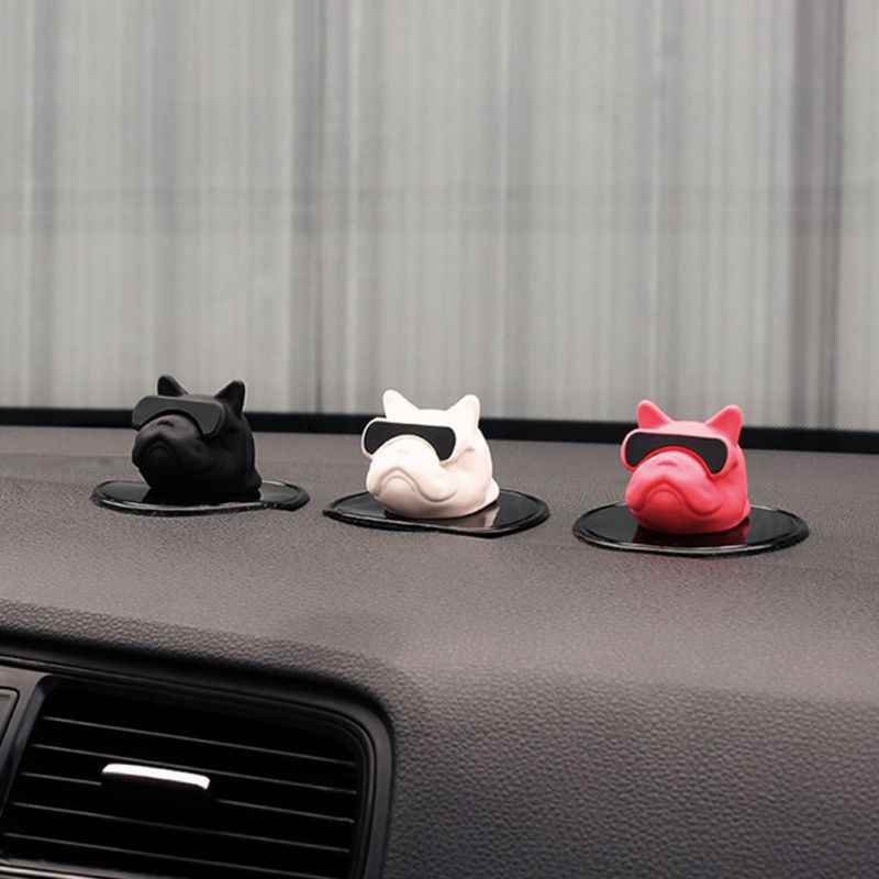 1PCS Auot Products France Bulldog Interior Jewelry Decoration Personality Creative For Male And Lady Car Decoration