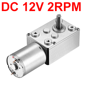 все цены на UXCELL Hot Sale 1 Pcs DC 12V 2RPM 6mm Shaft High Torque Turbine Worm Geared Motor онлайн