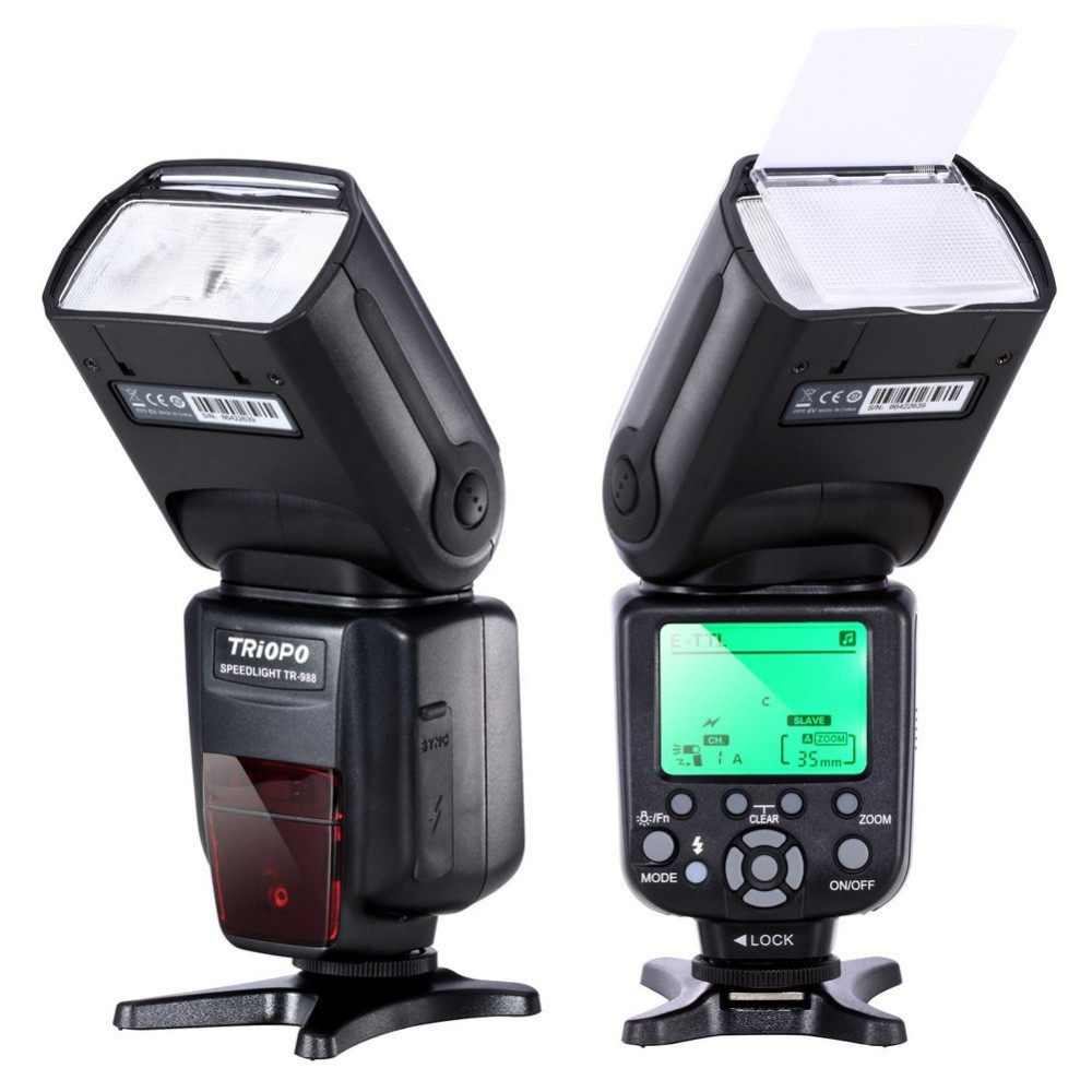 TRIOPO TR-988 Professional Speedlite TTL Camera Flash with High Speed Sync for Canon and Nikon Digital SLR Camera triopo tr 988 professional speedlite ttl camera flash with high speed sync for canon and nikon digital slr camera tr988 diffuser