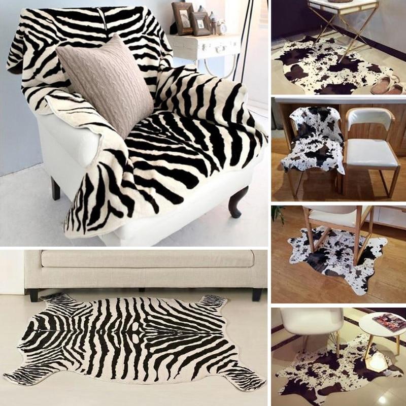 Creative Zebra/Cow 3D Printed Carpets For Living Room Anti-slip Cute Animal Throw Rugs Floor Mats Room Doormat Area Rug