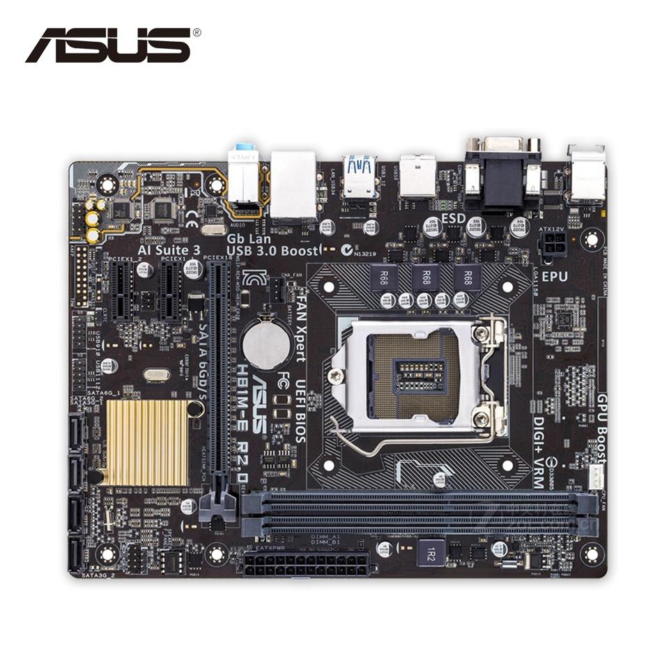 Asus H81M-E R2.0 Desktop Motherboard H81 Socket LGA 1150 i7 i5 i3 DDR3 16G SATA3 Micro-ATX asus b85m e desktop motherboard b85 socket lga 1150 i7 i5 i3 ddr3 32g sata3 usb3 0 micro atx second hand high quality