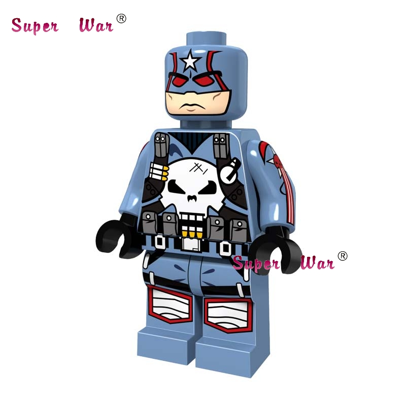 1PCS star wars super heroes marvel dc comics Captain Punisher building blocks models bricks toys for children kits