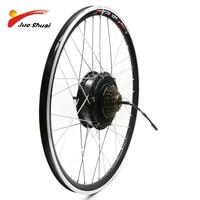 36V 48V 500W E Bike Wheel Motor 20 24 26 700C 28 Front Rear Electric Brushless Hub Motor Wheel for Electric Bicycle E bike