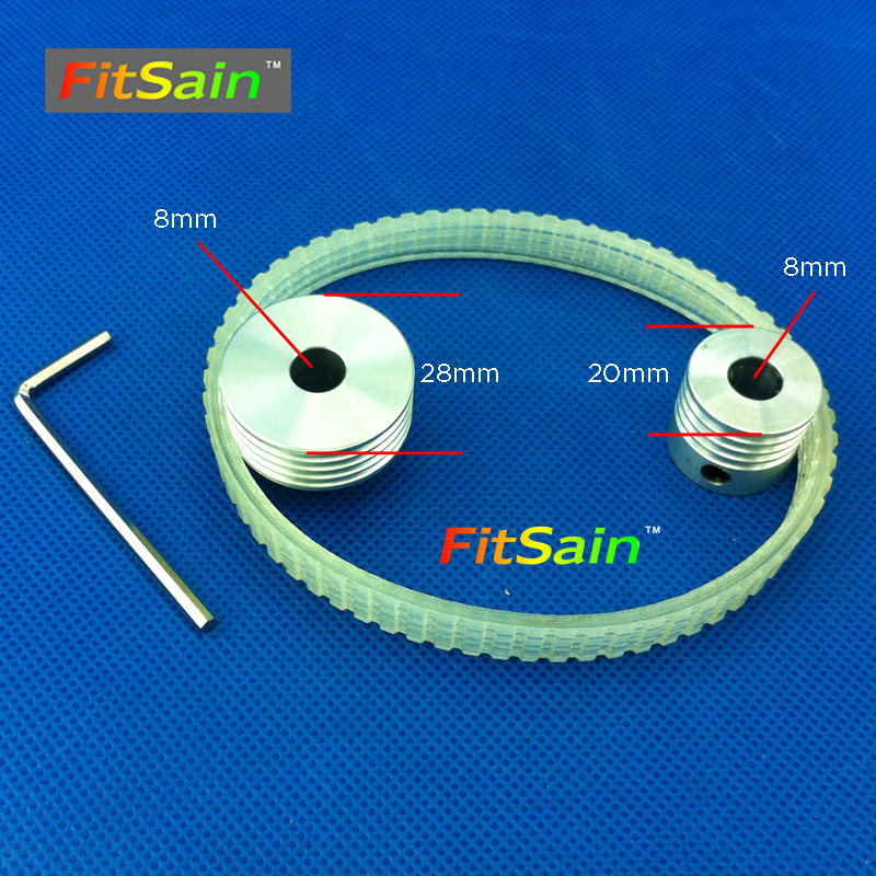 FitSain-Multi wedge PJ Belt pulley 4 slots  for motor shaft 8mm-8mm mini table electric saw sawing machines chainsaw fitsain mini table saw for motor shaft 8mm saw blade 16mm 20mm belt spindle cutting saws machine pulley bracket bearing chainsaw