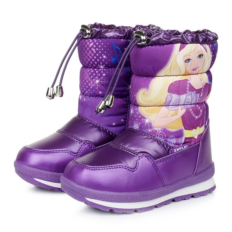 Непромокаемые Нескользящие ботинки для девочек; зимние ботинки; детские шерстяные ботинки принцессы; плотные зимние ботинки; обувь из хлопка