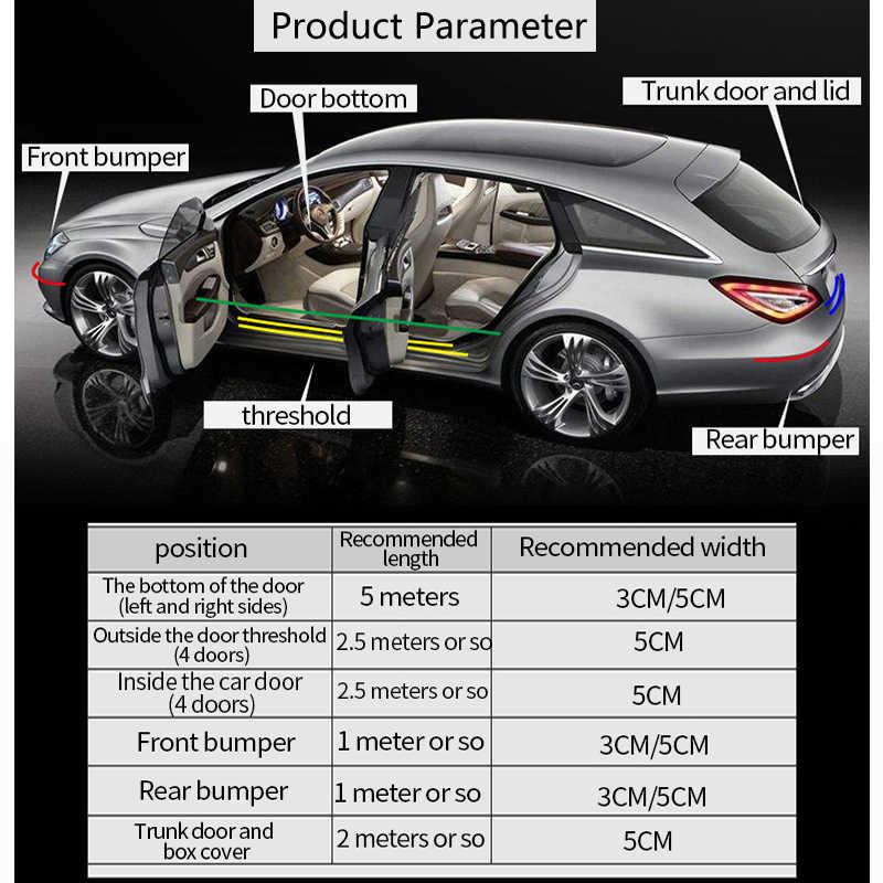 カーボンファイバーパターンの車リアバンパープロテクター起亜のためリオ K2 K3 Ceed Sportage 3 フレディソレントセラートアームレスト picanto オプティマ