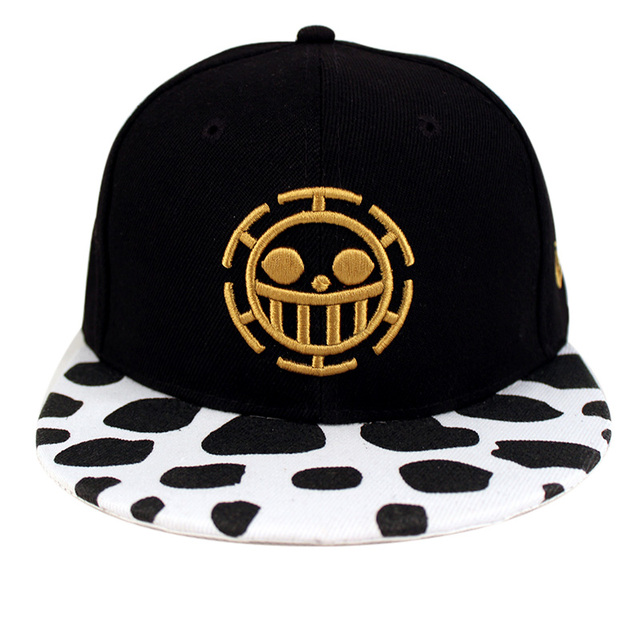 Free Shipping Fashion One Piece Baseball Cap Hat Trafalgar Law Caps For  Women Men Snapback Caps Flat Hat 638aa2a1c59