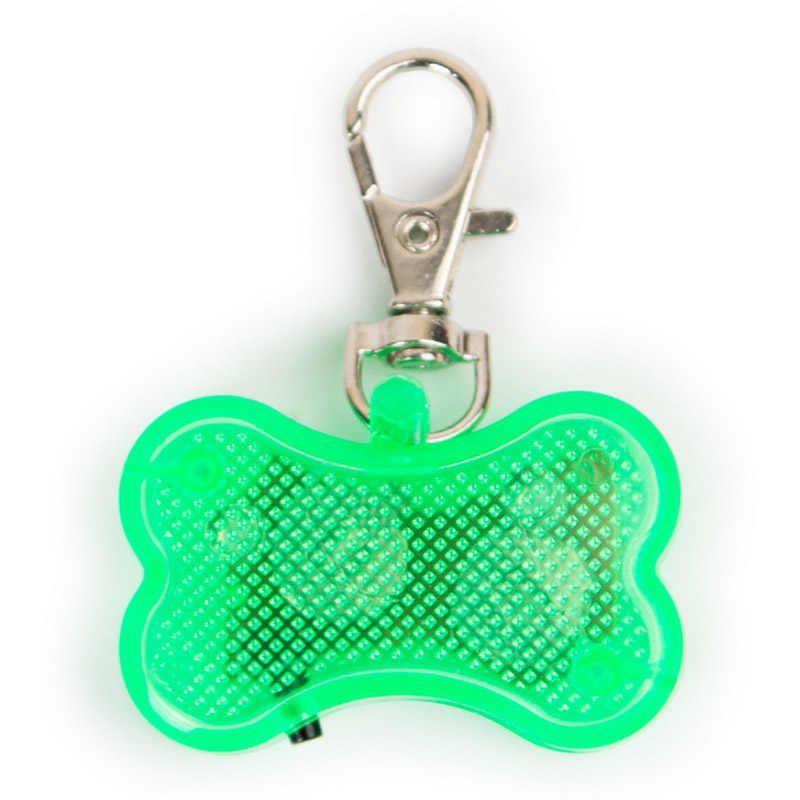 Light Up Osso di Cane Collari Luce Hooked On Collare di Cane ID Tag luci Pendenti con gemme e perle Flash Lampeggiante Incandescenza di Osso di Cane da Compagnia gatti PL0040