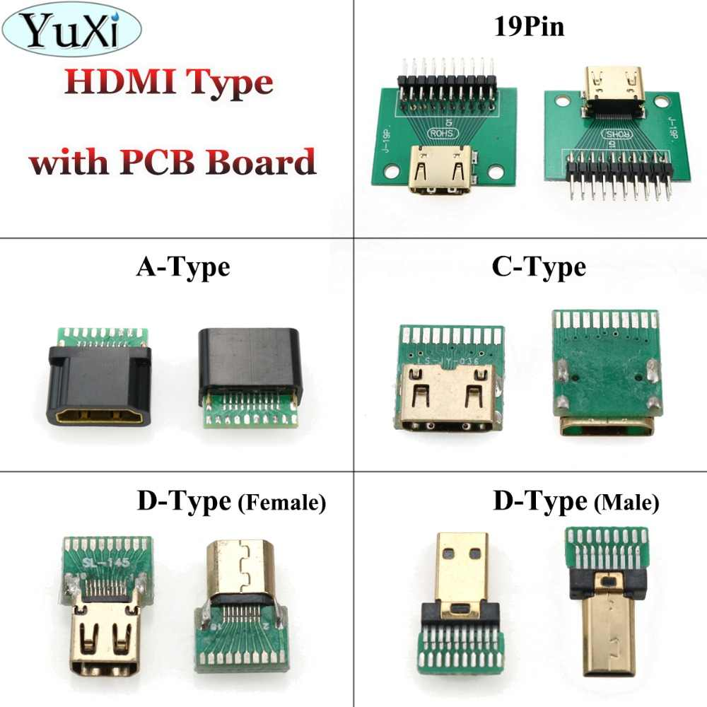 YuXi HDMI C Type / A Type / D Type 19Pin female connector