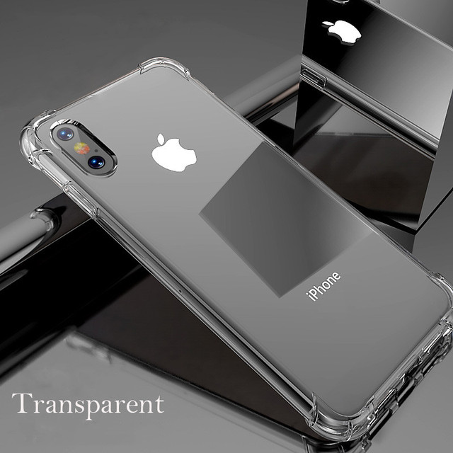 Luxury Shock-proof Case For iPhone XS Max X 10 XR iPhone 6s 6 6Plus 6SPlus iPhone 7 8 7Plus 8Plus HD Clear Protective Back Cover