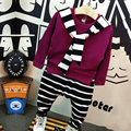 Primavera Roupas de Bebê Menino Da Criança Stripe Define Vestuário Crianças Sports Terno Camiseta + Calça Sportswear Crianças Roupa da Criança trajes