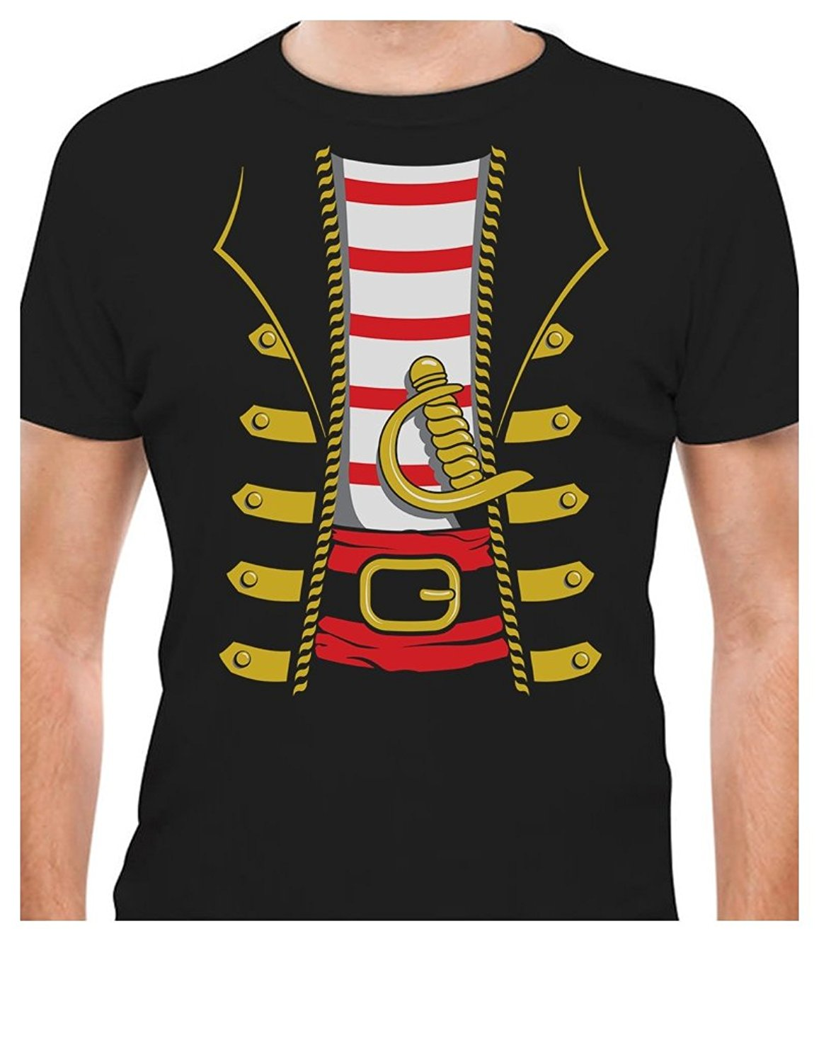 fabb3883 US $11.24 25% OFF|Printed tee shirt design Halloween Pirate Buccaneer  Costume Outfit Suit T Shirt Circle t shirt designers-in T-Shirts from Men's  ...