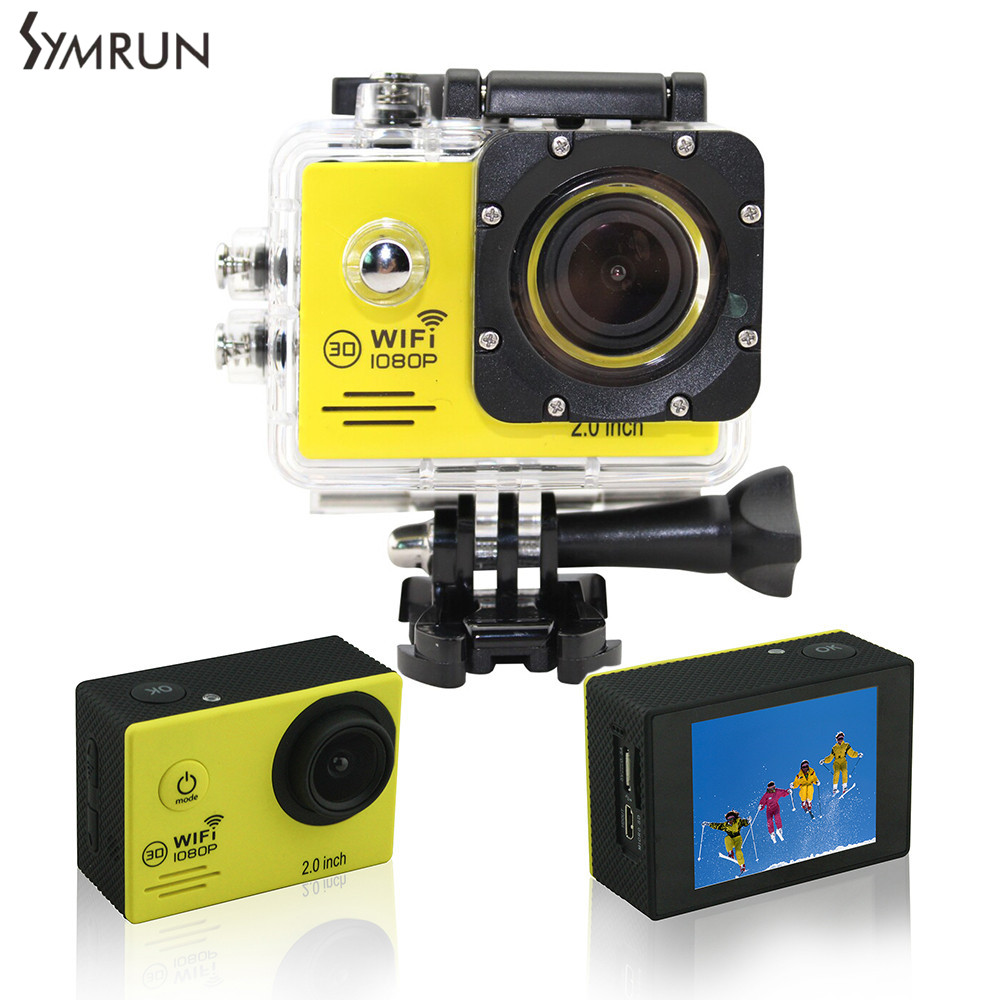 ФОТО Original Symrun SJ4000 SJ4000 wifi action Camera 1080P HD SJ4000 wifi action camera DV Sj 4000 Mini Cam With  Accessory