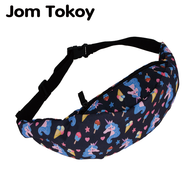 Jom Tokoy New Colorful Waist Bag For Men Fanny Packs Style Belt Bag Unicorn Women Waist Pack Travelling Mobile Phone Bags