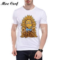 Funny Minions Game Of Thrones Design T Shirt Casual Short Sleeve Hot Hipster Tops Customize Printed