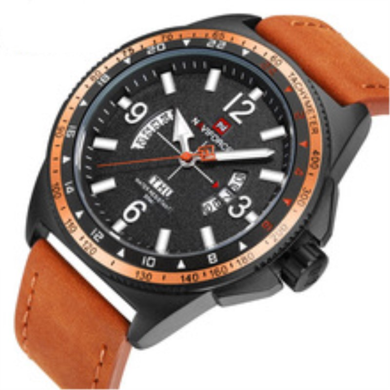 Top Brand Luxury Fashion Casual Watch Sport Mens Watches Business Leather Band Male Men Clock Quartz Wristwatches Man NAVIFORCE цена и фото
