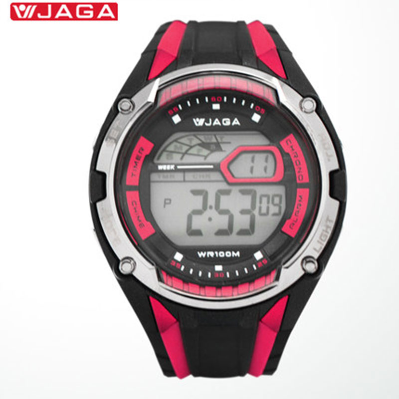 JAGA Men Sports Watches Multifunction Electronic Watch Waterproof Watches For Male Running Sports Watch Reloxo Masculino M980-AG ezon outdoor sports for smart gps watches running male multifunctional 5atm waterproof electronic watch g1 black