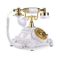 European Retro Vintage Rotary Dial Telephone Antique Telephone With Redial Landline Phone For Office Phone Home Living Room