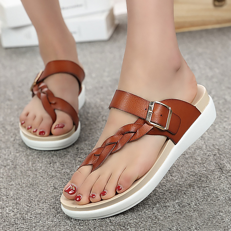 Designer flip flops summer sandals women shoes 2017 fashion buckle wedges slides big size 35-43 light platform beach shoes women sandals 2017 summer shoes woman flips flops wedges fashion gladiator fringe platform female slides ladies casual shoes