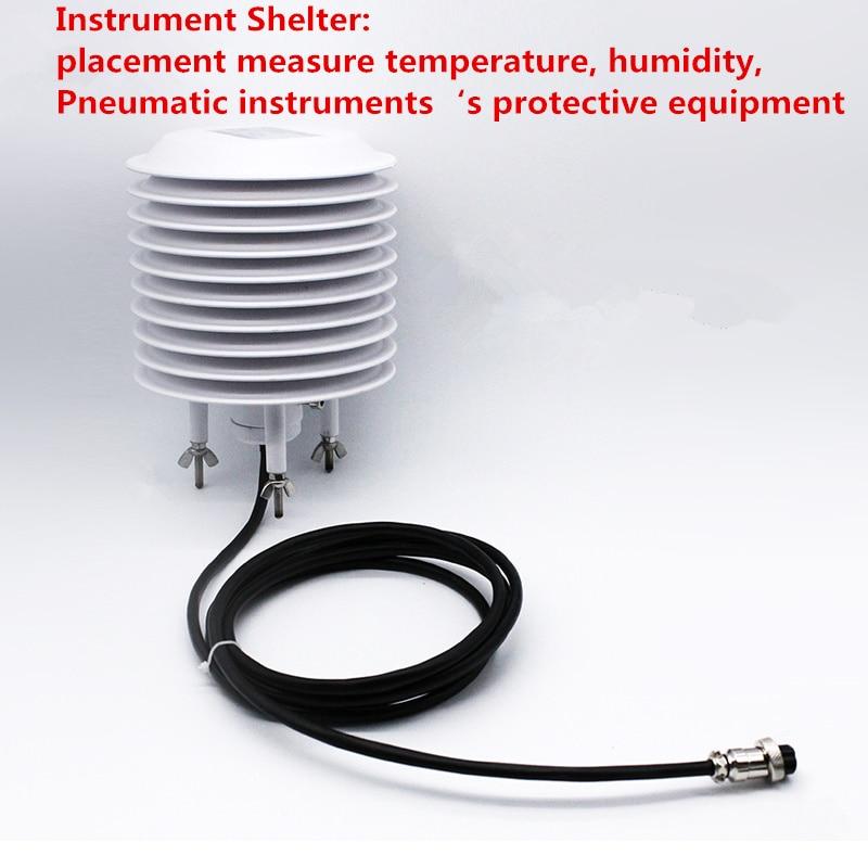 Atmospherie Temperature Sensor+Thermometer screen/instrument shelter RS485/232 5V,12V,24V Environment Temperature Sensor