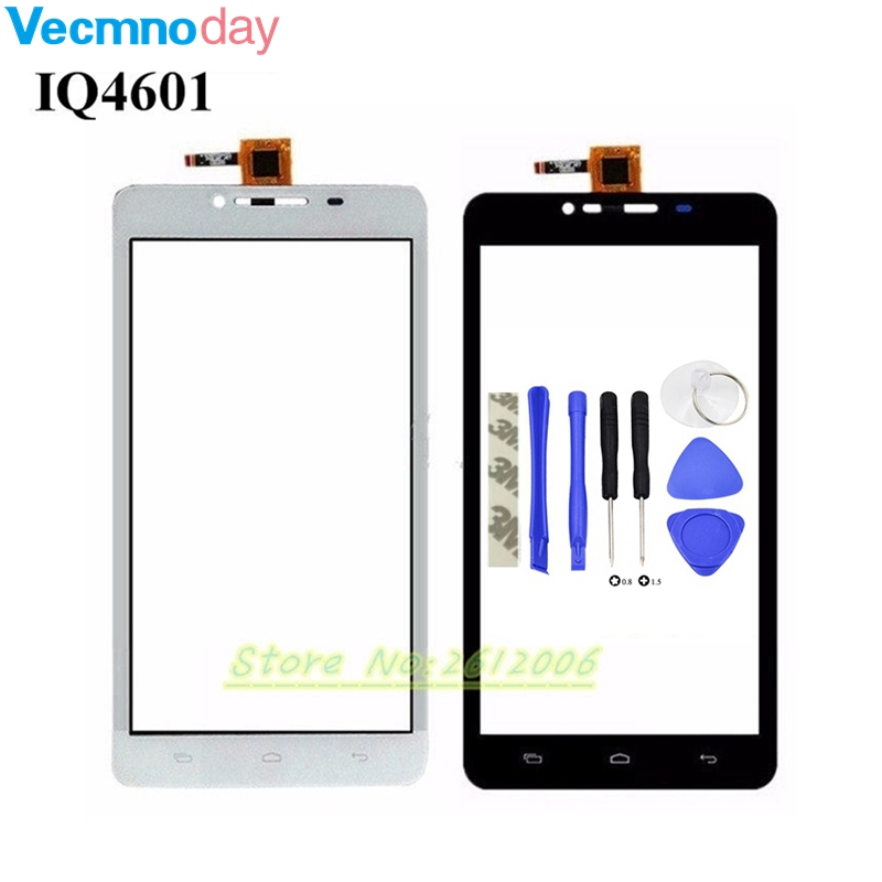 Vecmnoday 100% Test Before IQ 4601 Touch Panel For Fly IQ4601 Era Style 2 Touch Screen Digitizer Replacement +tools