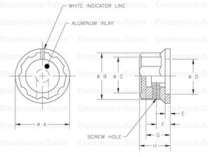 "Image 5 - ( 100 pcs/lot ) Pot Knobs, 0.776"" x 0.449"" Shaft 1/4"", MF A01, for HAM Radio / Audio."