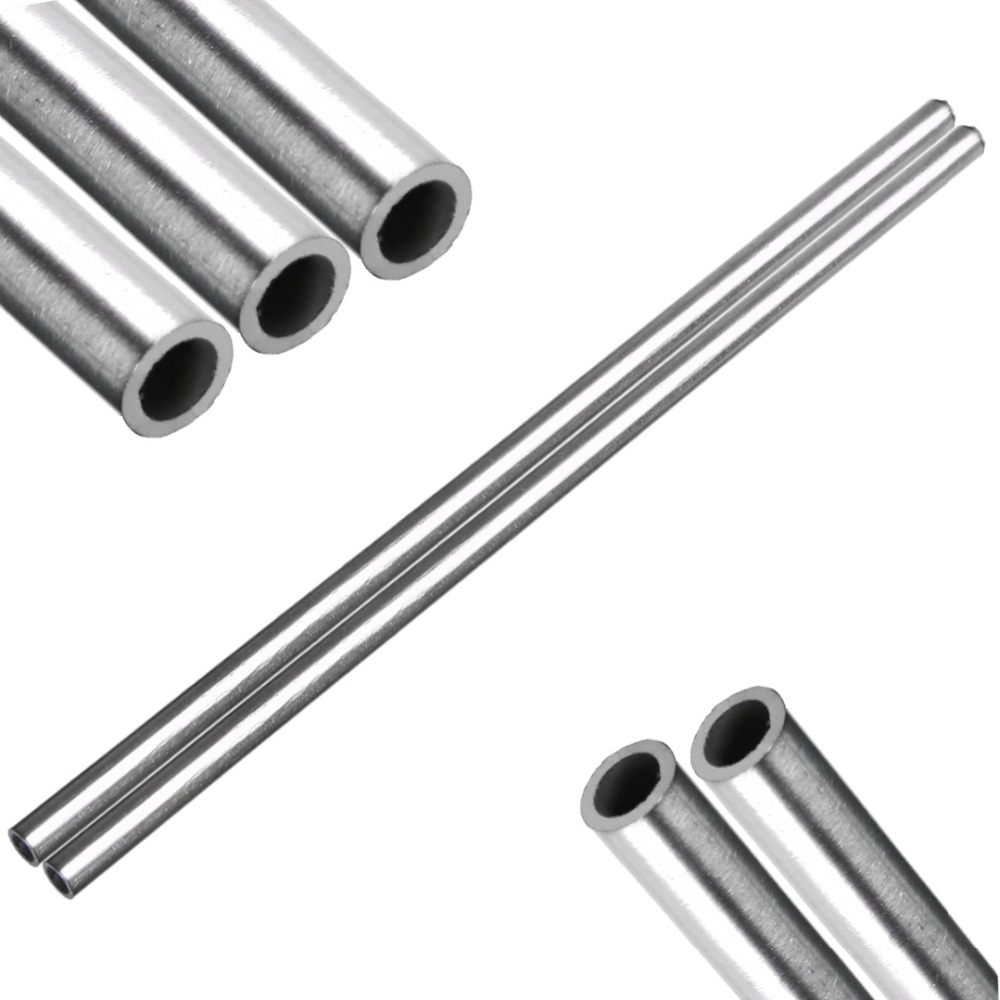 1pc/2pcs Silver 304 Stainless Steel Capillary Tube Corrosion Resistant Rod Pipe Tool OD 8mm 6mm ID Length 250mm Mayitr