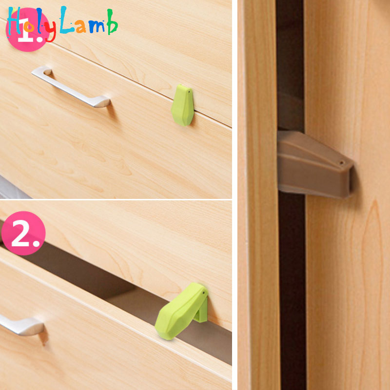 4Pcs/Lot Baby Safety Drawer Anti-clipper Cute Animal Bird Design Automatic Transformation Cabinet Lock Locks From Children