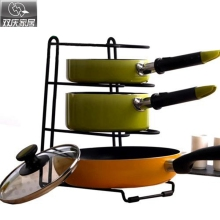 Multipurpose Shelf with four layers high quality kitchen organizer pot cover holder stainless steel pot holder