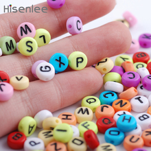 """Hisenlee High Quality Alphabet Acrylic Letters Beads 300PCs Mixed Colors """"A-Z"""" Letter Beads For Jewelry Making DIY Beaded Craft"""