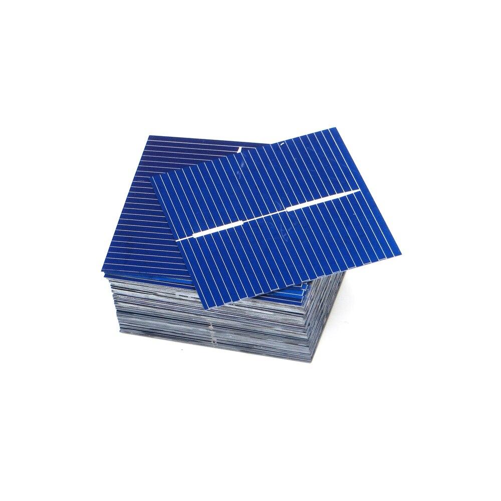 50 Uds x Panel Solar Painel células DIY cargador de silicio policristalino de Sunpower La energía Solar Bord 39*39mm 0,5 V 0,25 W